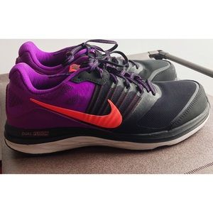 Nike dual fusion x running shoes black purple 8